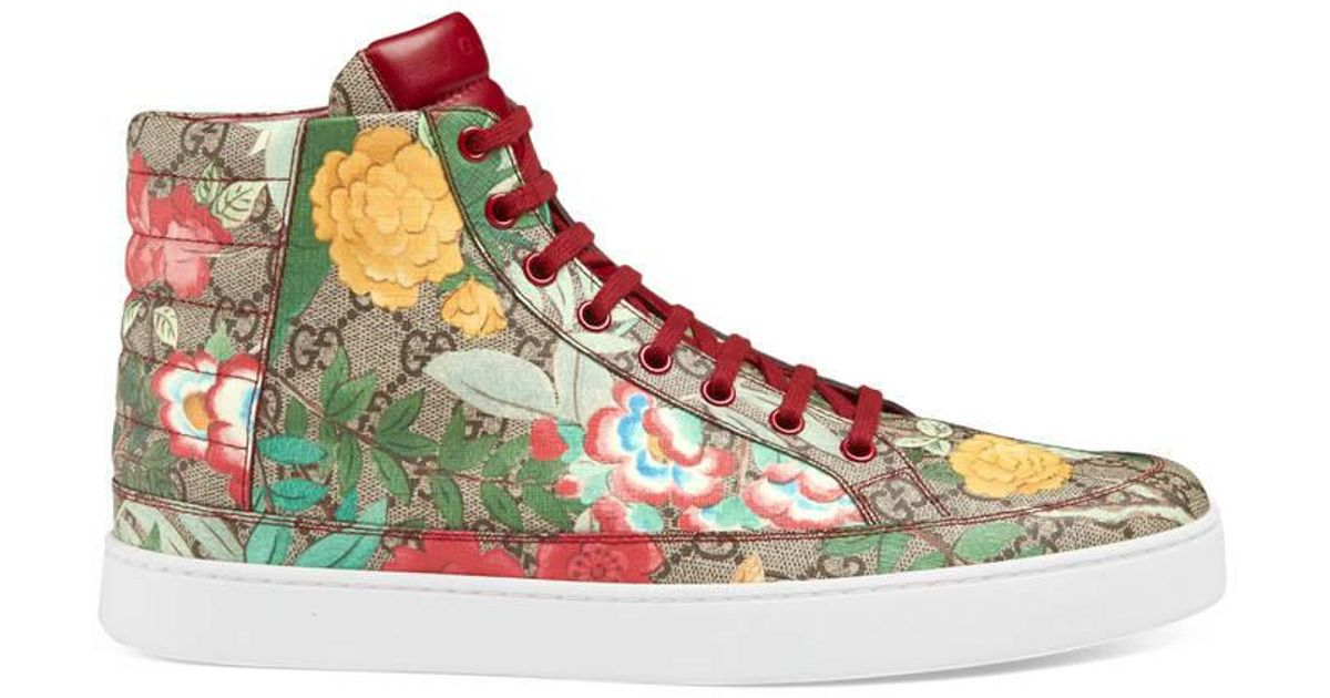 c4a8eb2fd5bc Lyst - Gucci Men s Tian High-top Sneaker in Green for Men