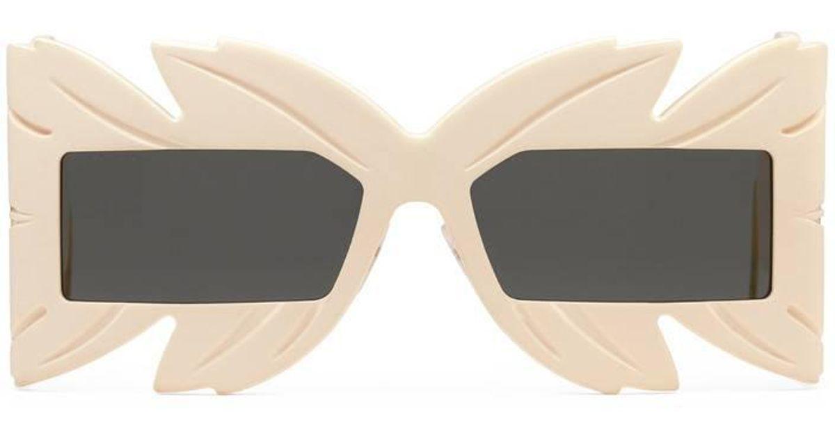 Lyst - Lunettes de soleil masque en acétate Gucci pour homme 9365cf579a20