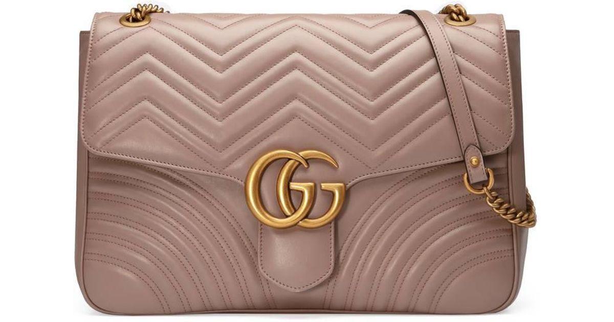 GG Marmont large shoulder bag - Pink & Purple Gucci EJVQQfBi