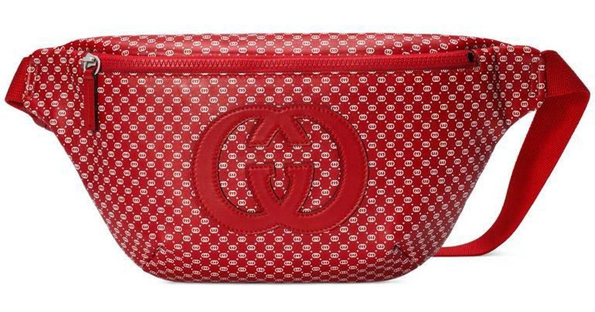 4b8adaea414d Gucci -dapper Dan Belt Bag in Red for Men - Lyst