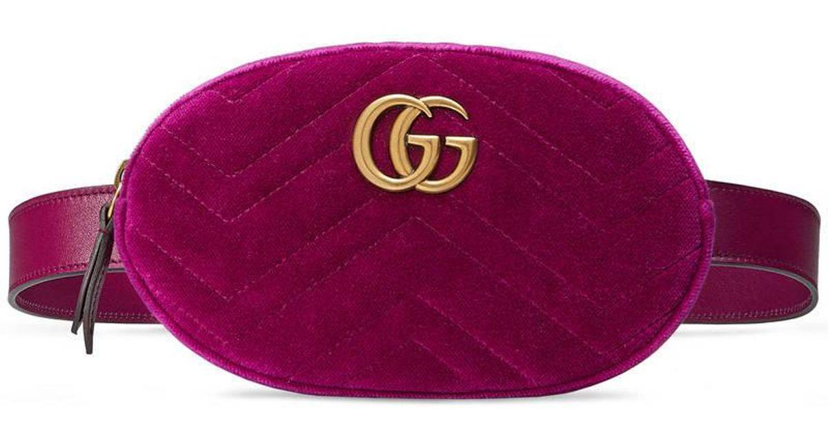 54abf95f229d Gucci Marmont Belt Bag Velvet