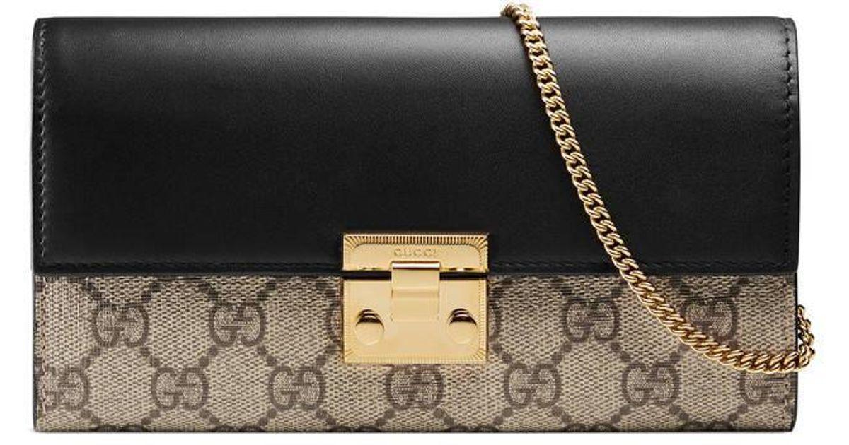 3923b30123e Lyst - Gucci Padlock Continental Wallet in Black