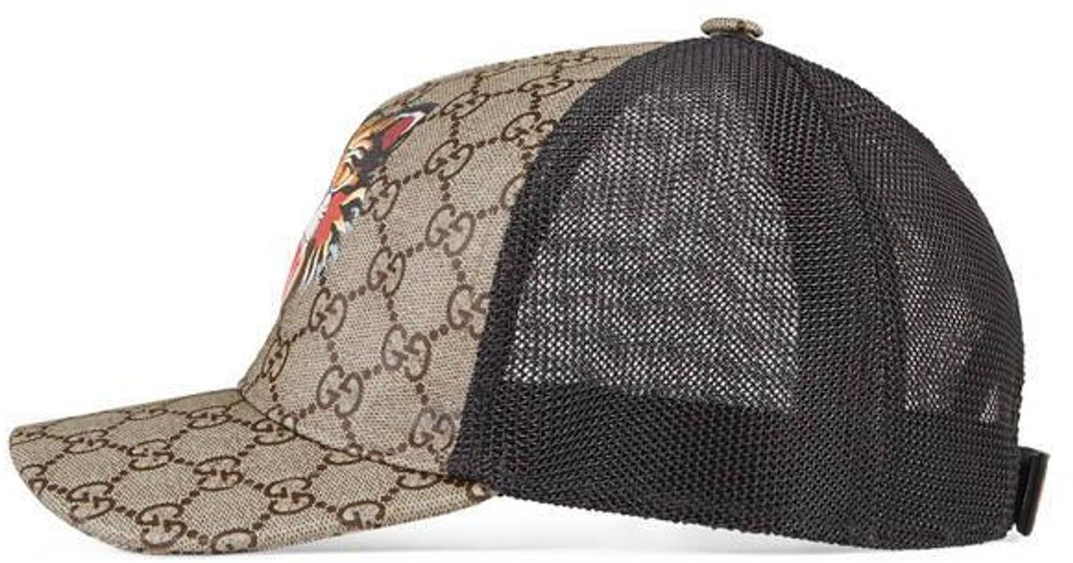 Lyst - Gucci Cat Print Gg Supreme Baseball Hat for Men 245c970e86d
