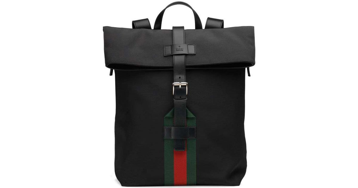 817962e4860458 Gucci Techno Canvas Backpack in Black for Men - Lyst