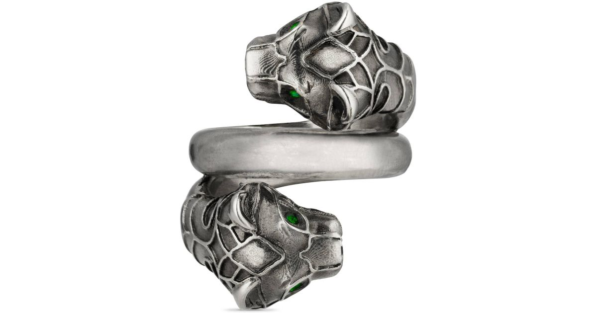 598e0015de Gucci - Metallic Ring mit Tigerkopf for Men - Lyst