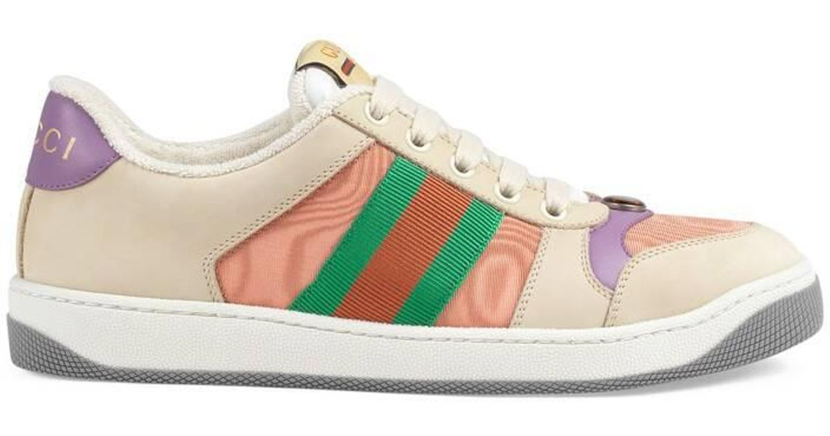 39cdc5e534 Gucci - White Women's Screener Leather Sneaker - Lyst