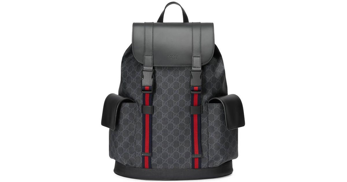 c22b701930c0 Gucci Soft GG Supreme Backpack in Black for Men - Save 5% - Lyst