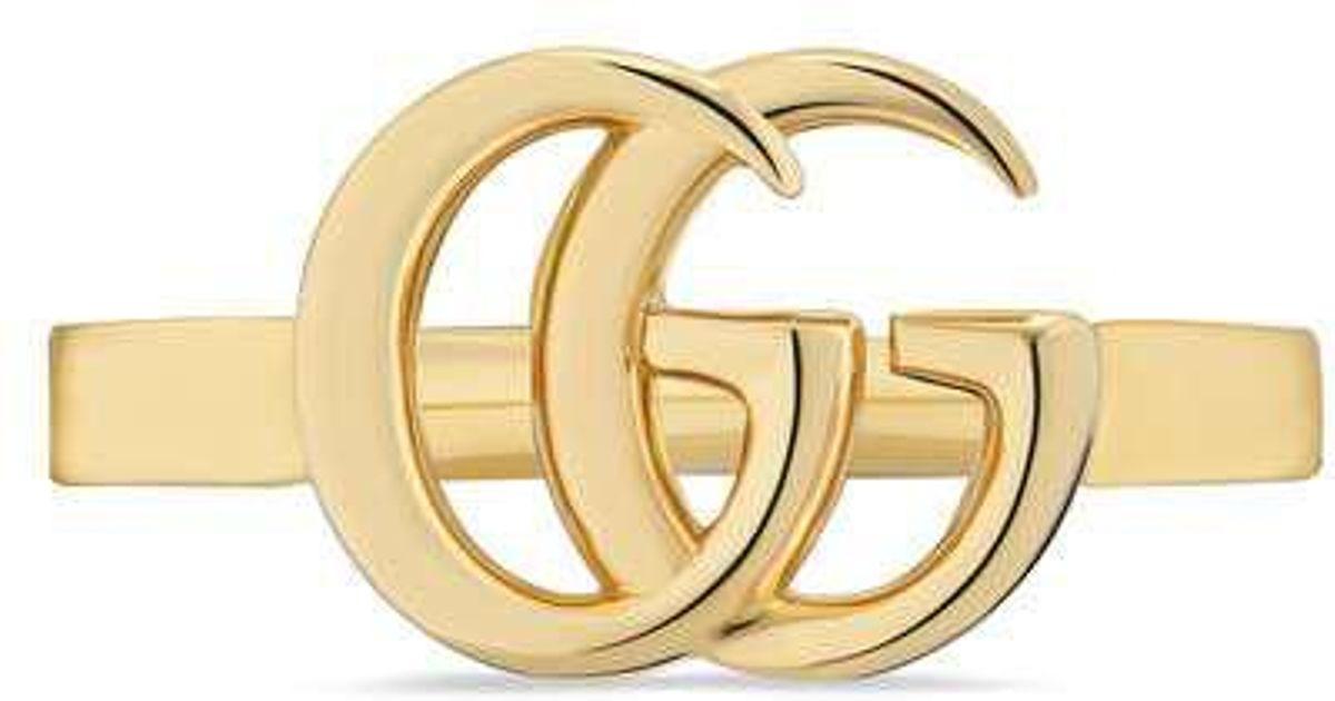2b56ad3cb Gucci GG Running Yellow Gold Ring in Metallic - Save 27% - Lyst