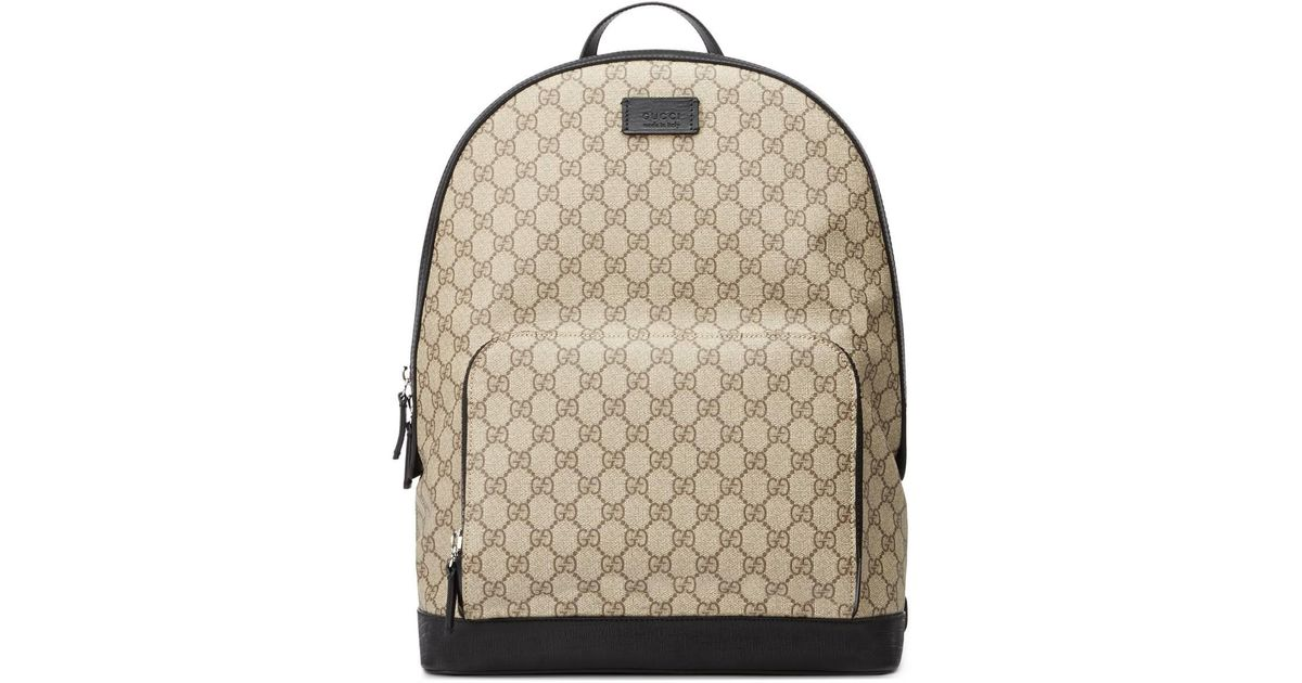 c49ebf6351e8 Lyst - Gucci GG Supreme Backpack in Natural