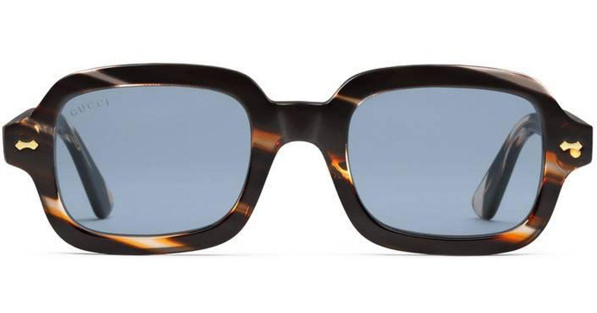 5067ead6e Lyst Gucci Rectangular Frame Acetate Gl For Men