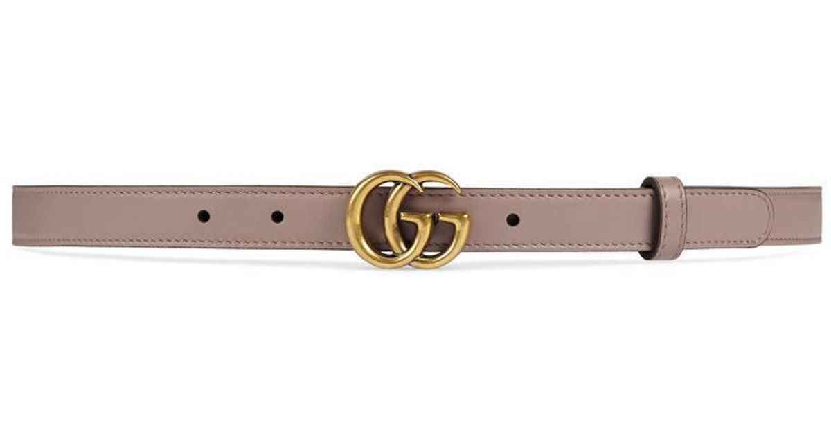 4af7f688285 Gucci Leather Belt With Double G Buckle in Pink - Save 38% - Lyst