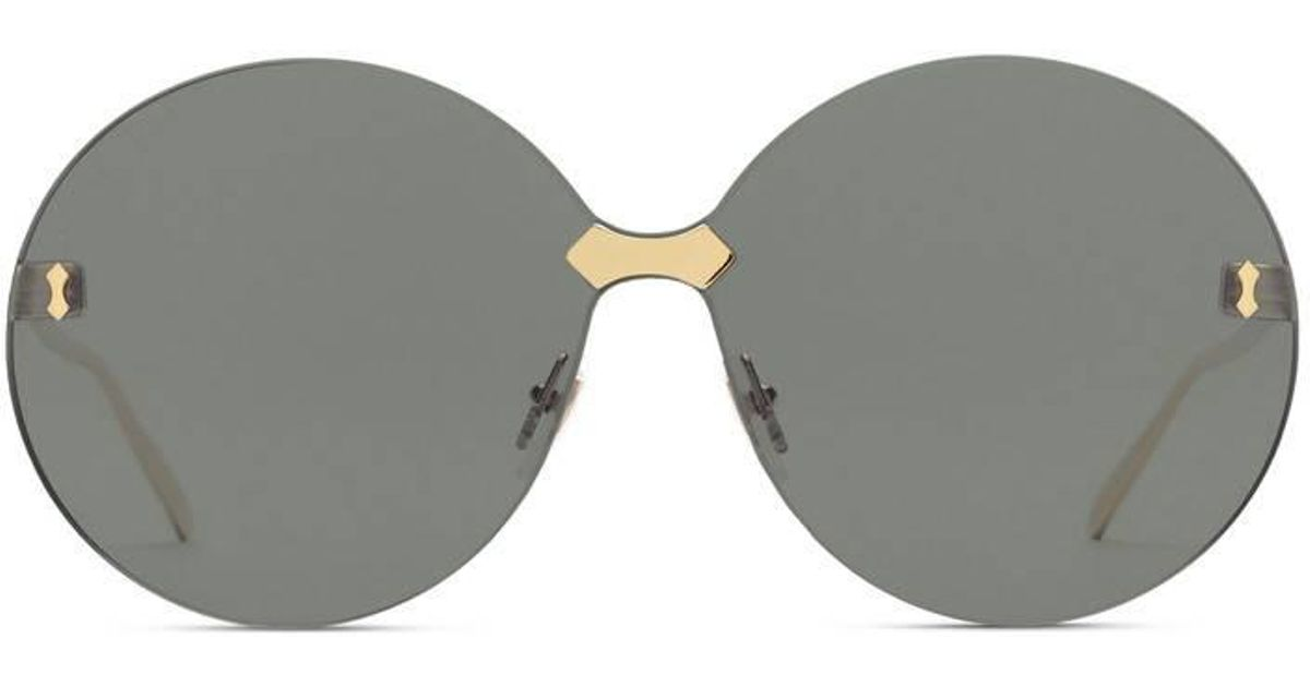9917a83212 Lyst - Gucci Round-frame Rimless Sunglasses in Gray