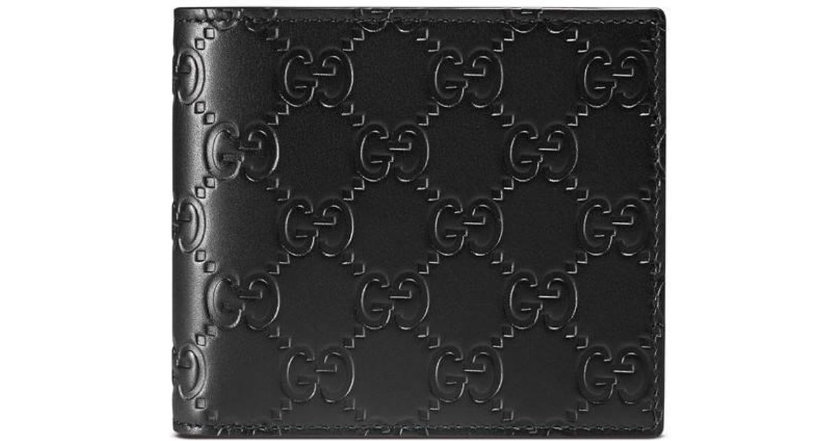 6bde8c8bbc0a9a Lyst Gucci Signature Leather Id Window Wallet In Black For Men