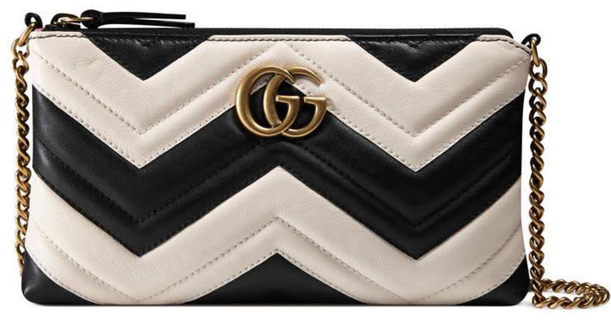 192195c06 Gucci Gg Marmont Mini Chain Bag in Black - Lyst