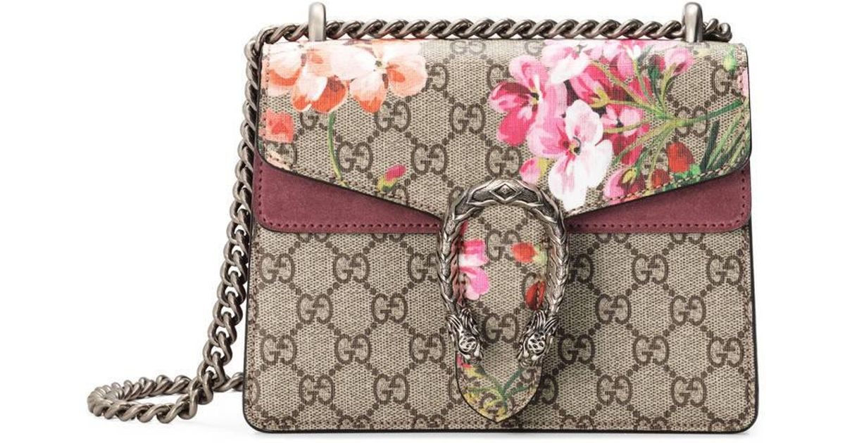 abfa74d15b26 Lyst - Gucci Dionysus Gg Blooms Mini Bag in Gray