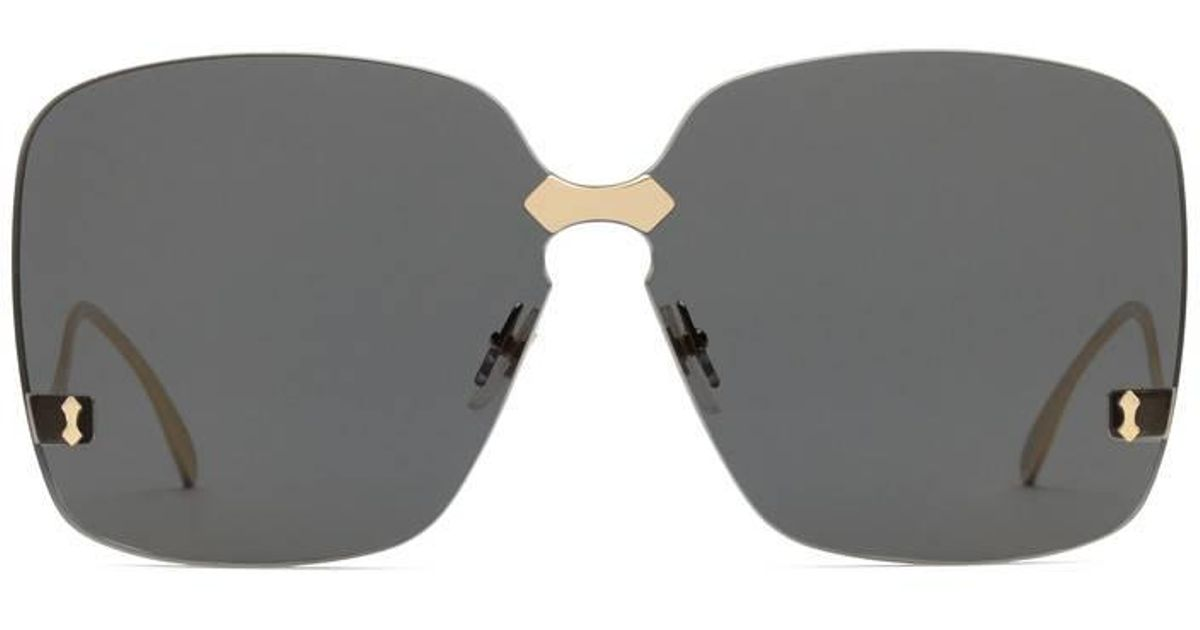 ffe60062c0 Lyst - Gucci Square-frame Rimless Sunglasses in Gray