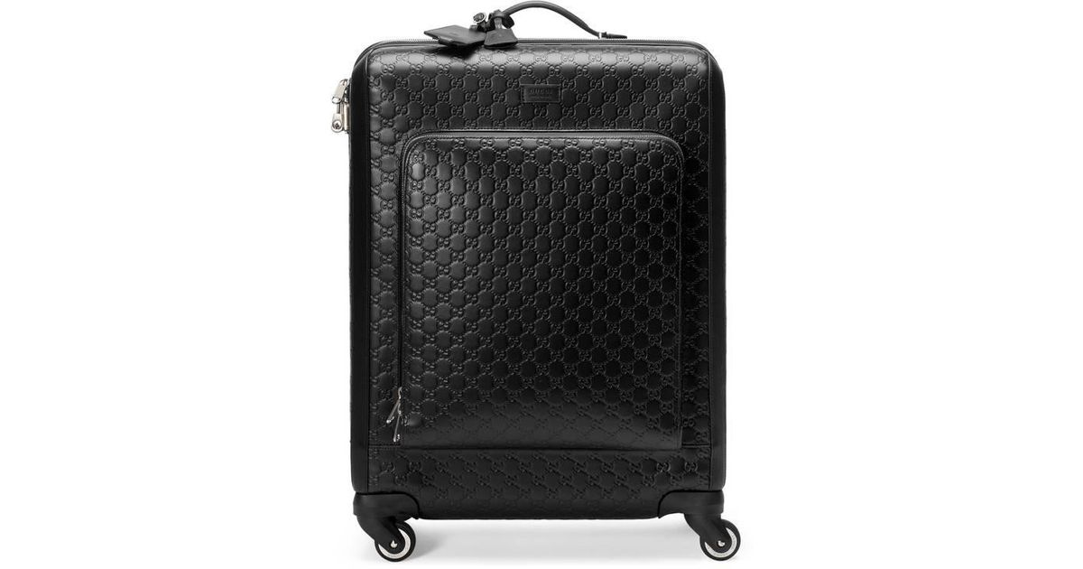 548e05b76 Gucci Signature Suitcase in Black for Men - Lyst