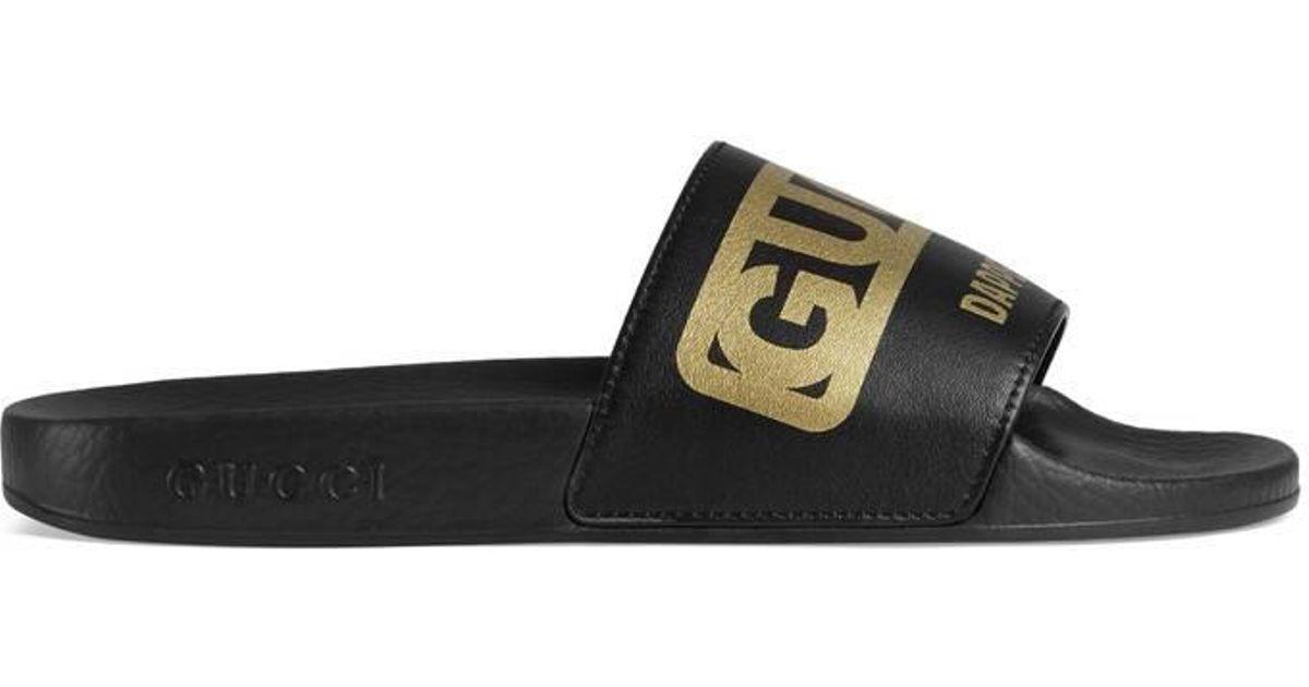 754e160c3 Lyst - Gucci Women s -dapper Dan Slide Sandal in Black