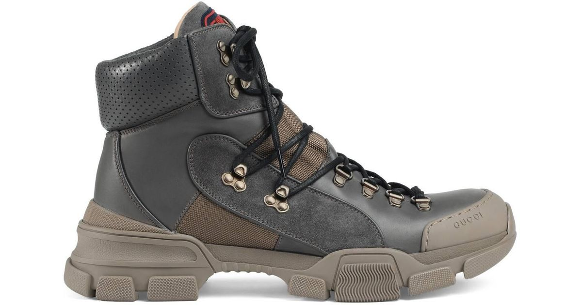 Lyst - Gucci Flashtrek High-top Sneaker in Gray for Men 00df8de6b7