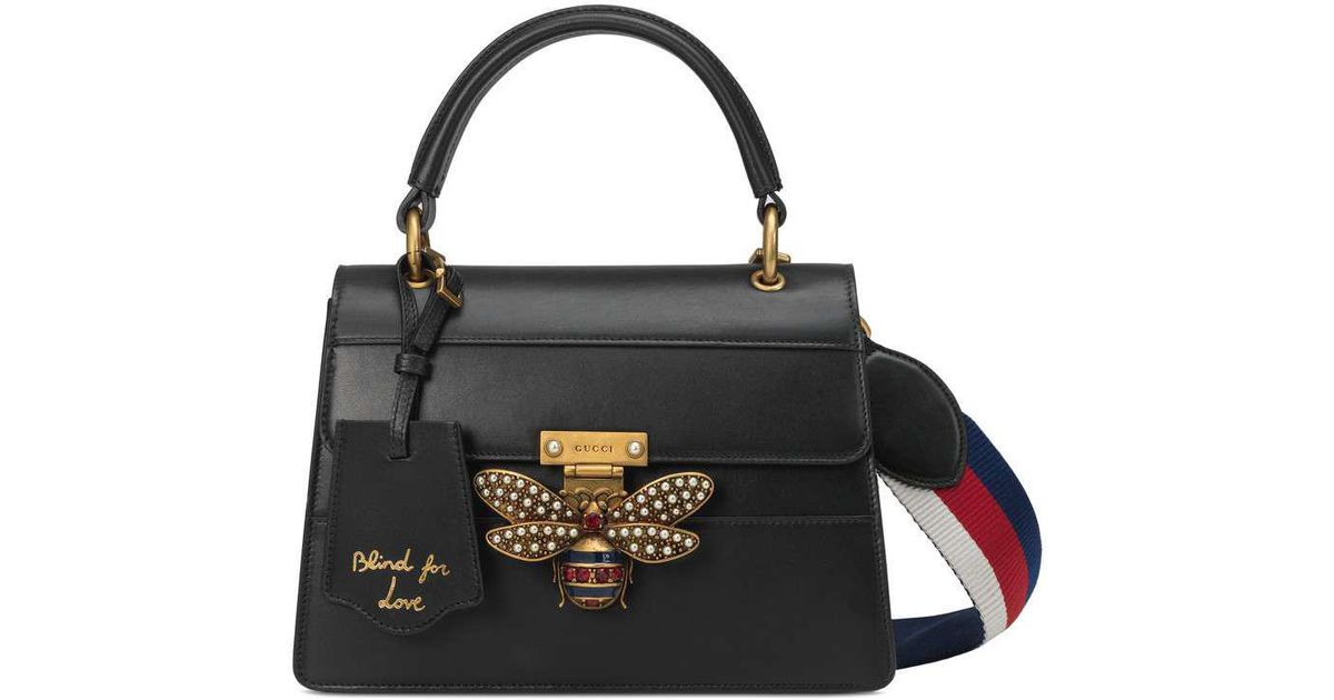 a00887ea0 Gucci Queen Margaret Small Top Handle Bag in Black - Lyst
