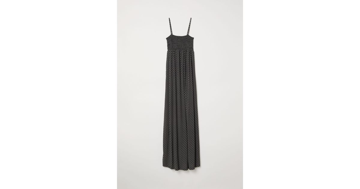 c0779947ad402 H&M Mama Long Jersey Dress in Black - Lyst