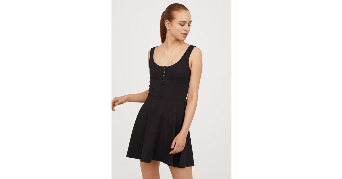 171cadd3ec Lyst - H M Ribbed Jersey Dress in Black