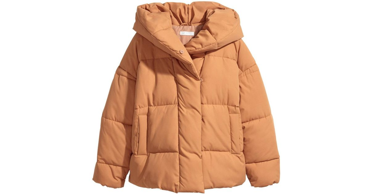 terrific value look for official supplier H&M Brown Padded Jacket With A Hood