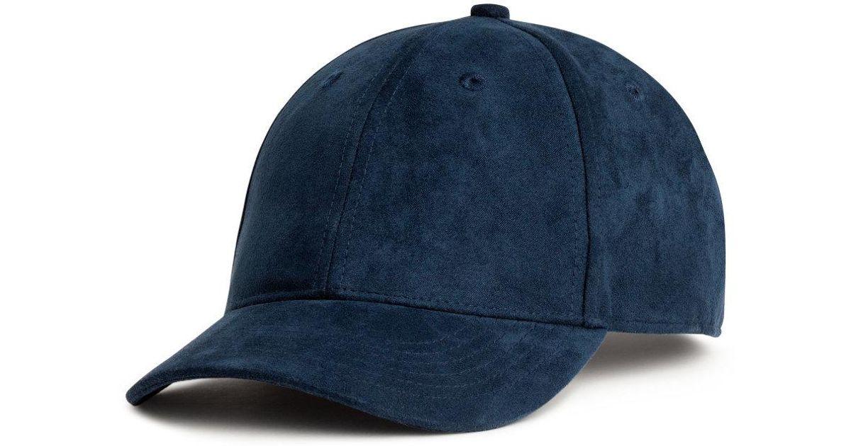 Lyst - H M Imitation Suede Cap in Blue for Men dcb5cd4c399