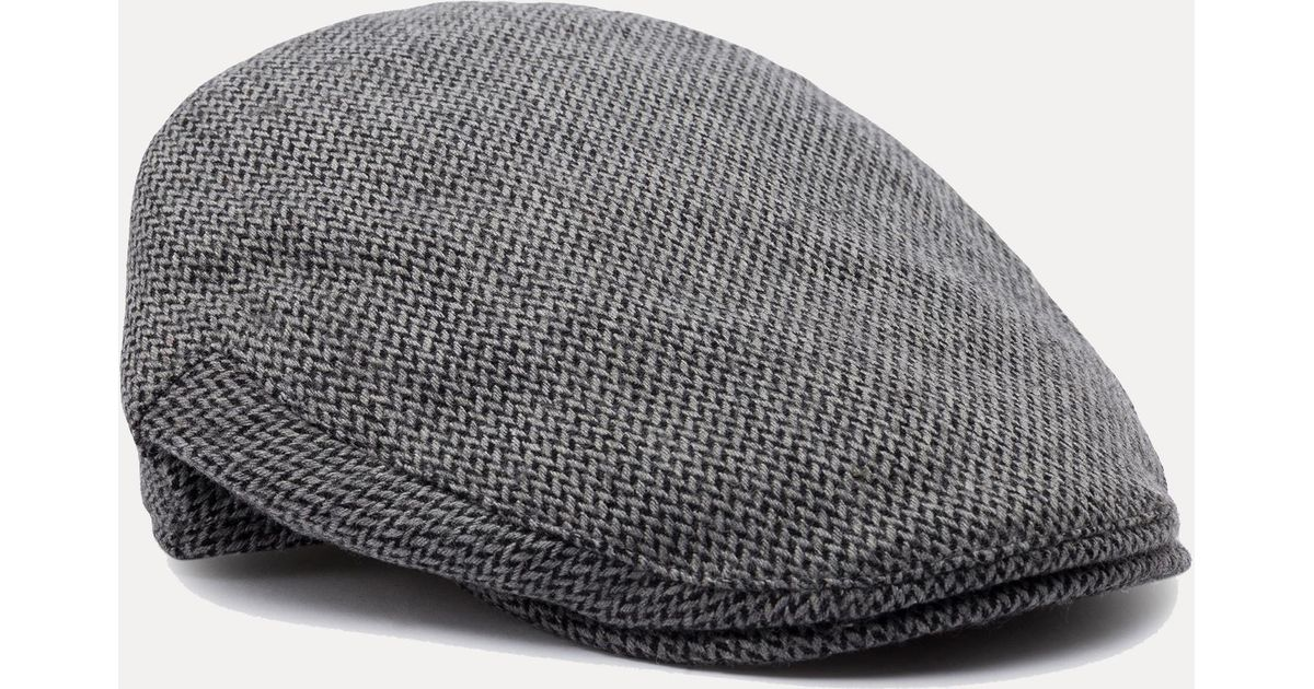 33762ad3cef Hackett Balmoral Tweed Wool Blend Flat Cap in Gray for Men - Lyst