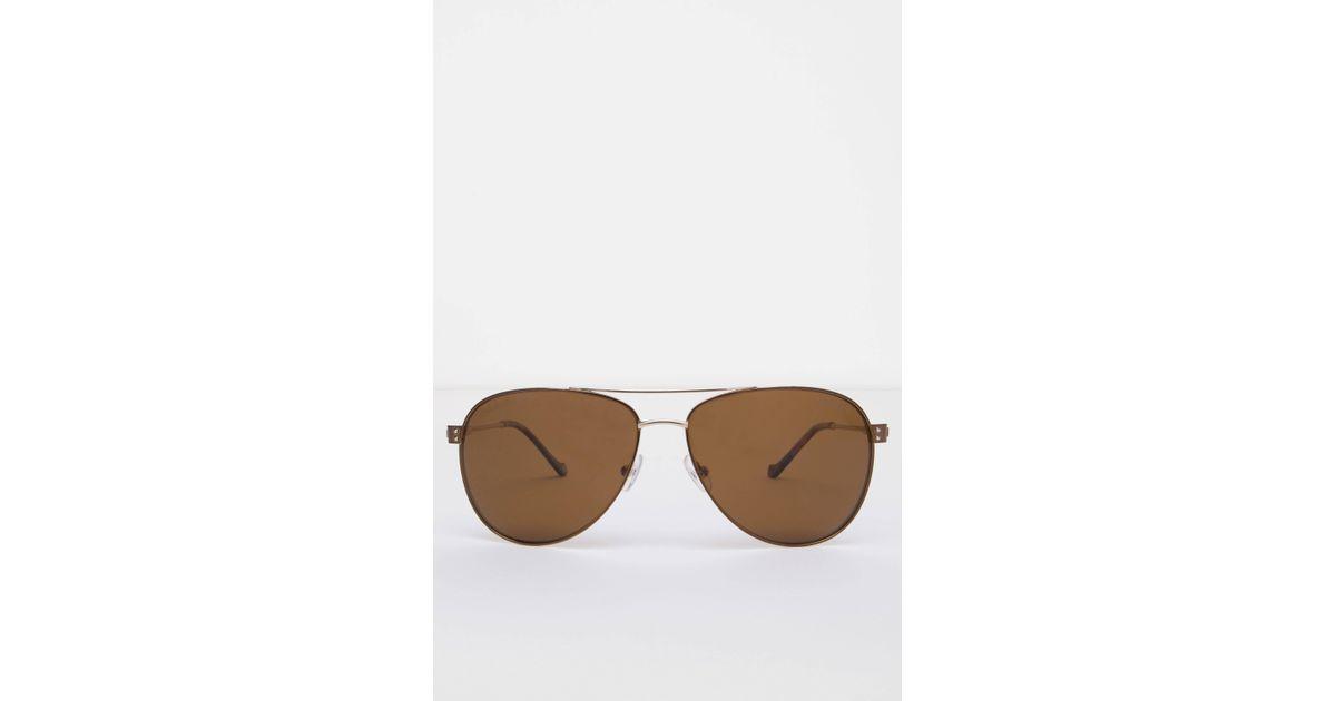 5a79cb67dd7 Hackett Sunset Gradient Retro Aviator Sunglasses in Brown for Men - Lyst