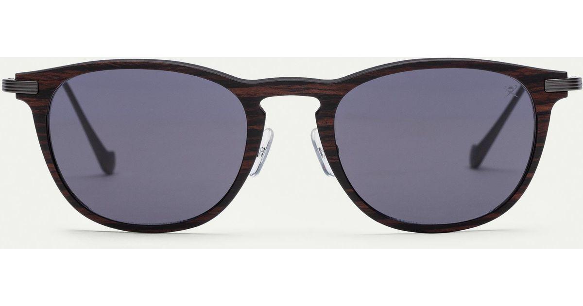 54d106f4354 Hackett Keyhole Bridge Wood And Carbon Fibre Sunglasses in Black for Men -  Lyst