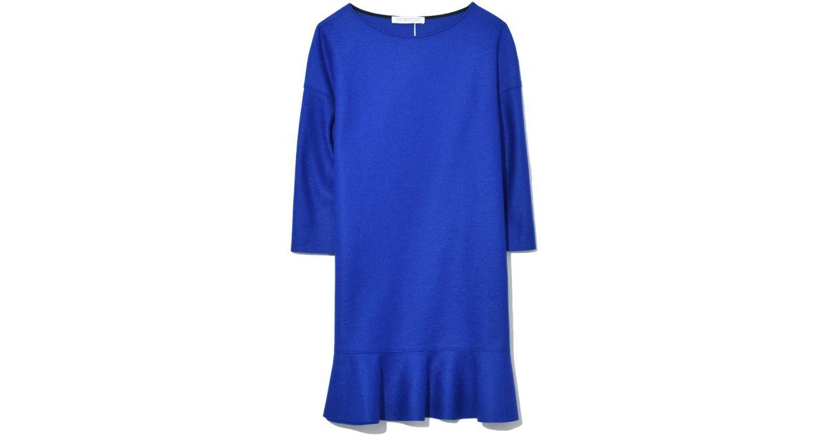 Grey and blue sheath dress Harris Wharf London mdoRvcMk