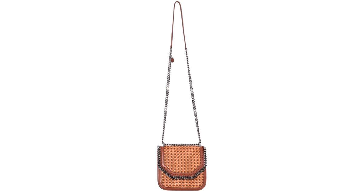 fb634dbe9f Lyst - Stella McCartney Falabella Box Wicker Medium Shoulder Bag In Tan
