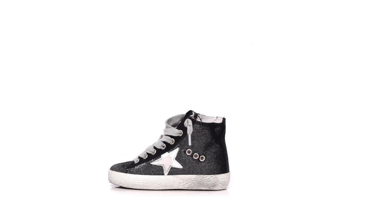 2085d0ade Golden Goose Deluxe Brand Kids Francy Sneaker In Silver Velvet/white Star  in Metallic - Lyst