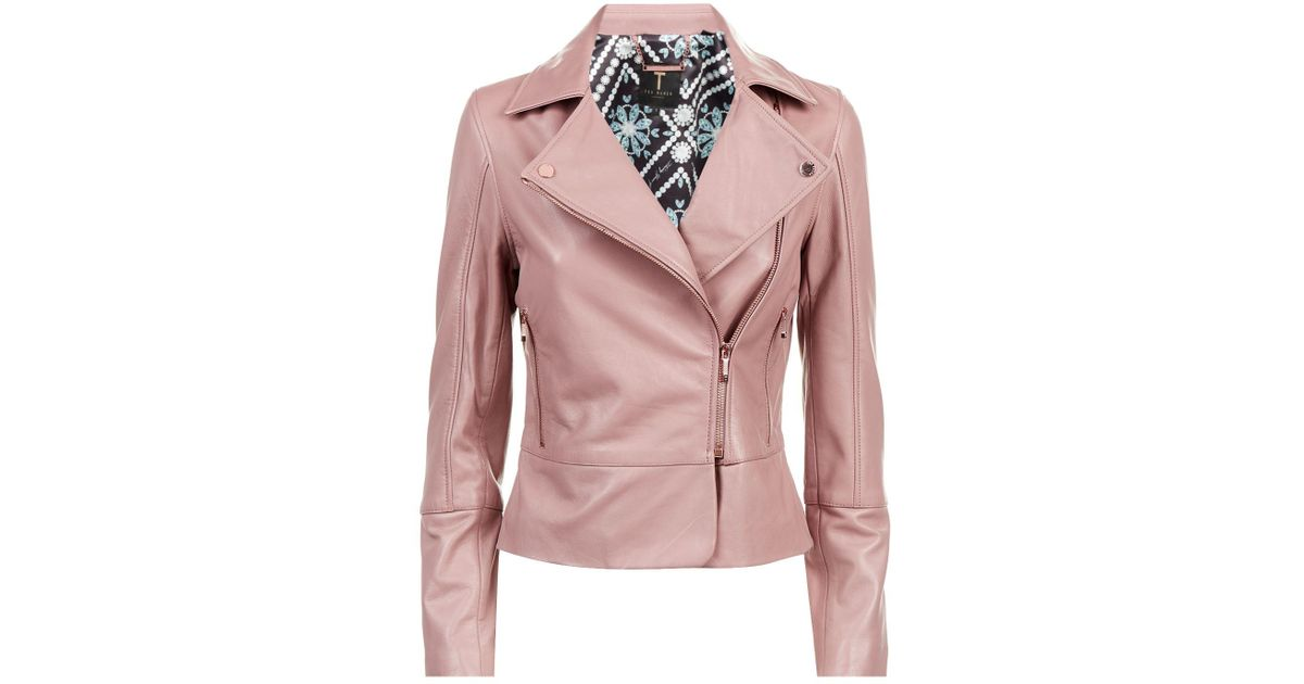 official supplier united states new styles Ted Baker Pink Leather Jacket