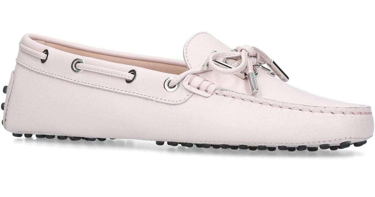 82a6d3fd5c7 Tod S Gommino Heaven Driving Shoes in Pink - Lyst