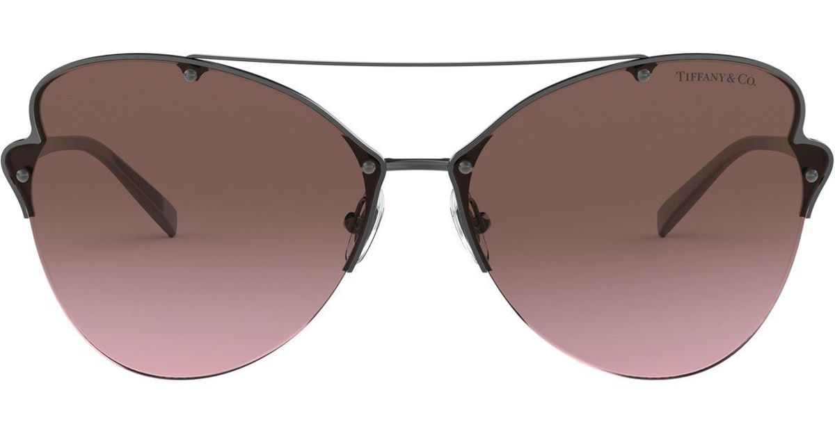 10a83df8af57 Lyst - Tiffany   Co. Butterfly Sunglasses in Gray