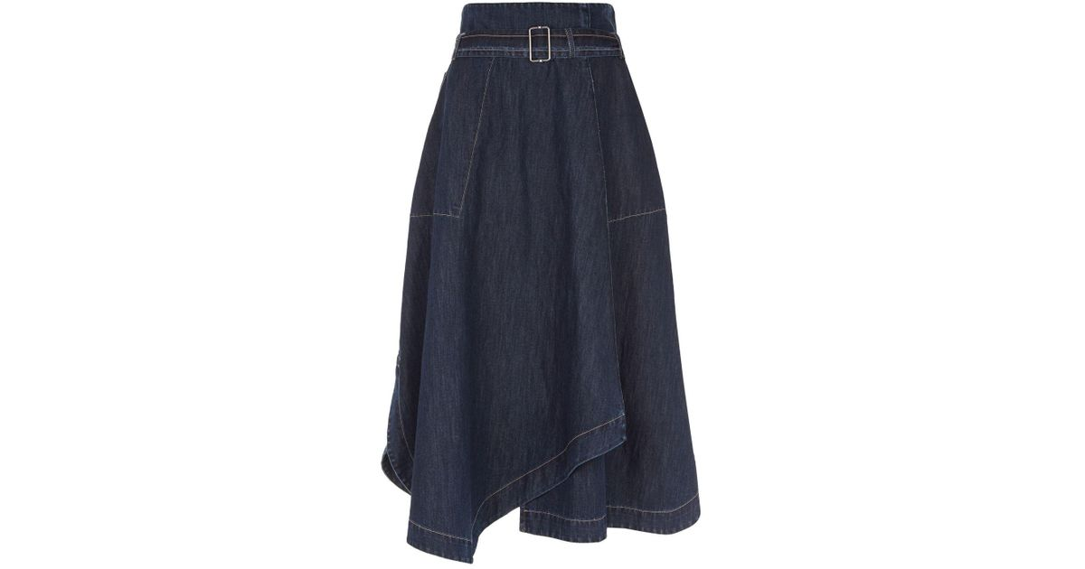 0acfb487d Weekend by Maxmara Denim Midi Skirt in Blue - Lyst
