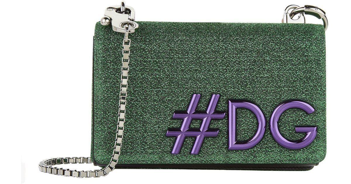 756679aeee Lyst - Dolce   Gabbana Sparkle Dg Girls Cross Body Bag in Green