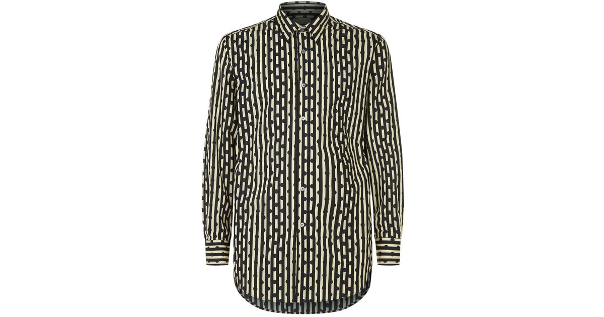 Lyst burberry stripe polka dot shirt in blue for men for Striped and polka dot pumpkins