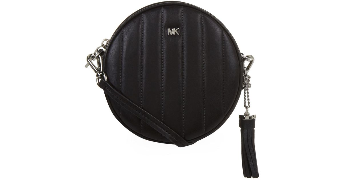 MICHAEL Michael Kors Quilted Round Cross Body Bag in Black - Lyst