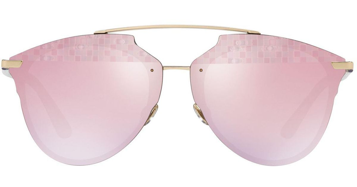 42927e05824b3 Lyst - Dior Reflected Prism Effect Sunglasses in Metallic