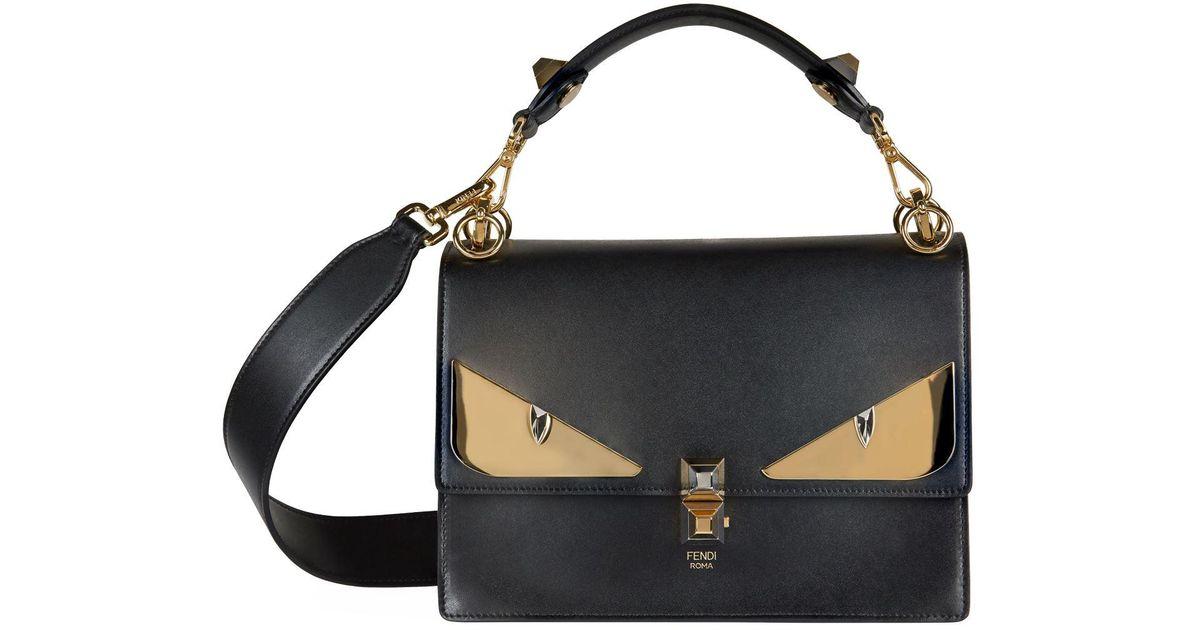 Lyst - Fendi Bag Bugs Kan I Shoulder Bag in Black 782c5936ad1fa