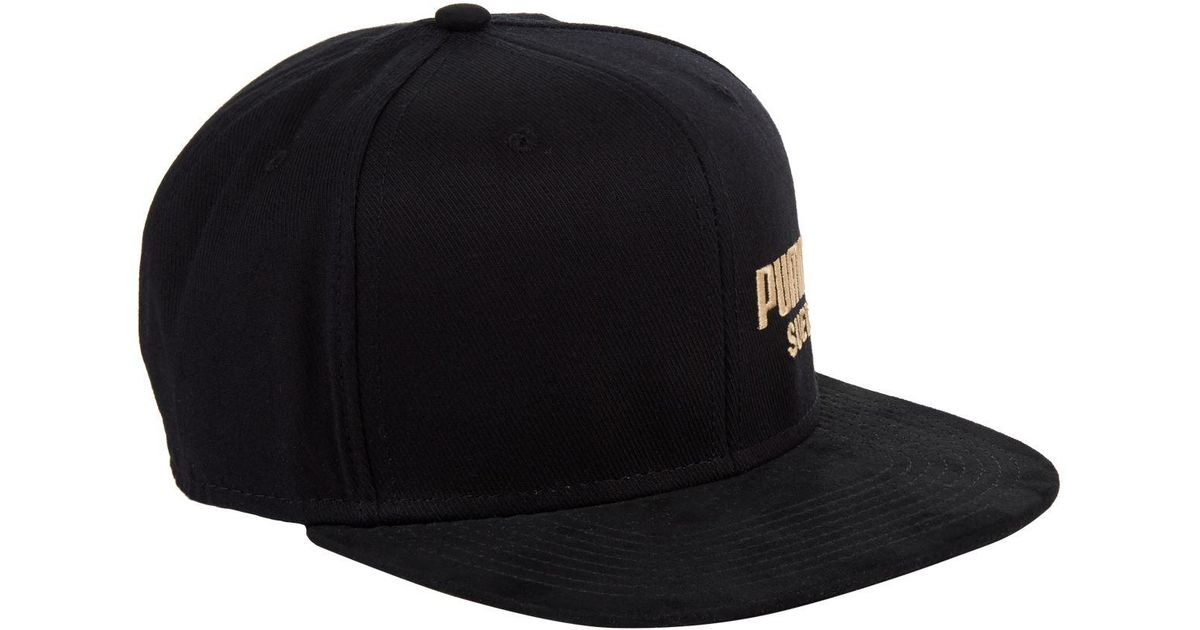 b032f9af774 Lyst - PUMA Archive Faux Suede Cap in Black for Men
