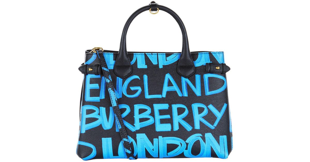 1006d817d401 Burberry Medium Graffiti Banner Bag in Black - Lyst