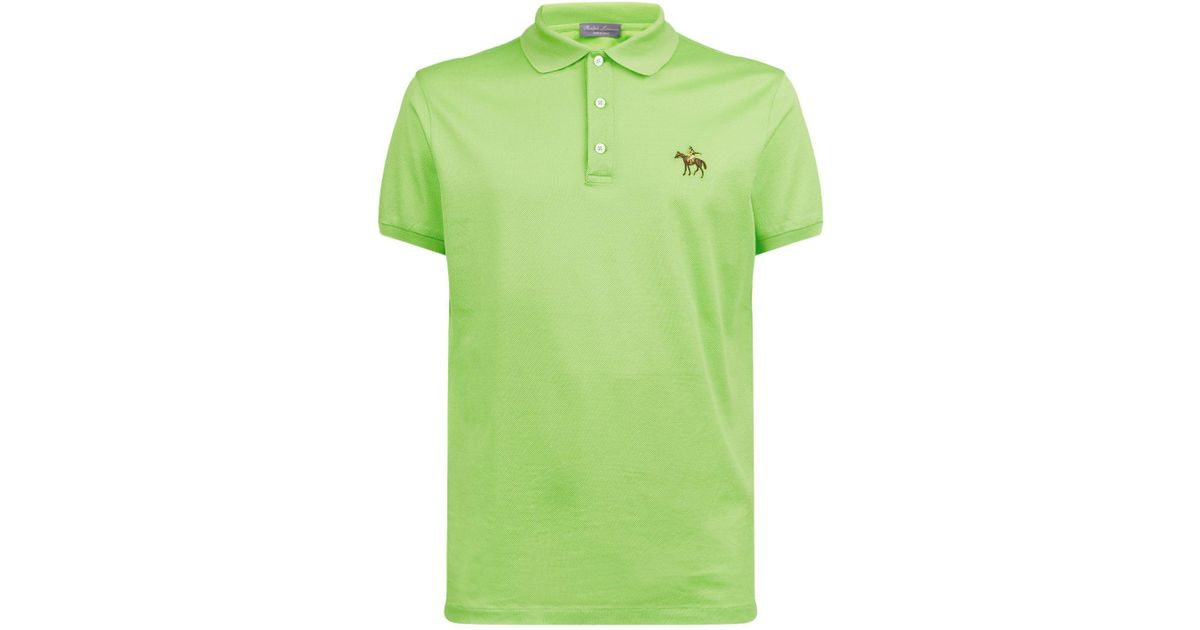 103a0b23ca ... order lyst ralph lauren purple label coloured pony polo shirt in green  for men 53a8b 5504b