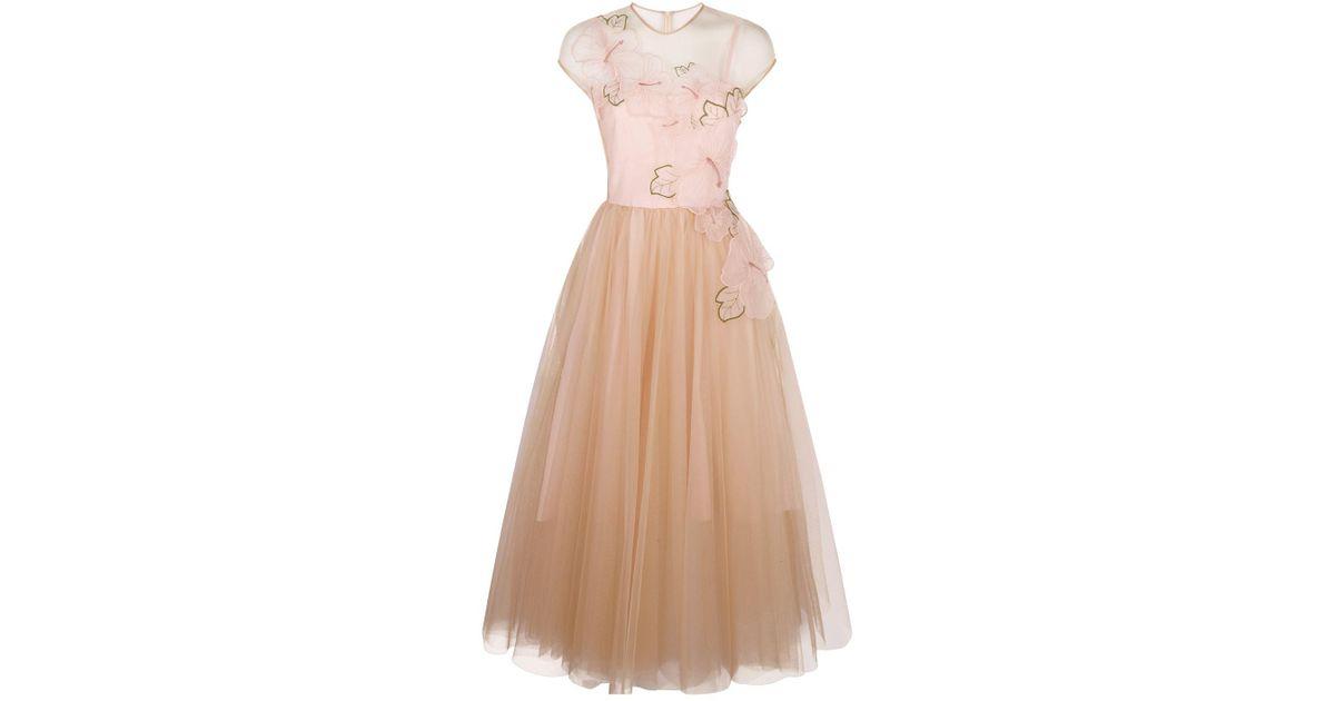 Pinko Tulle Skirt Dress in Pink - Lyst