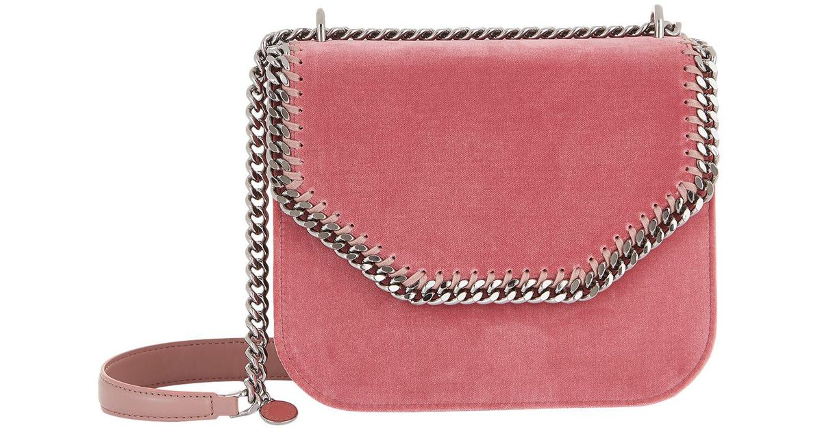 d336f31f20e4 Stella McCartney - Pink Small Falabella Box Velvet Shoulder Bag - Lyst