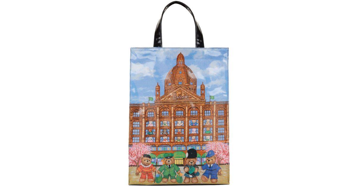 92969a08881 Harrods Medium Knightsbridge Bears Shopper Bag in Blue - Lyst