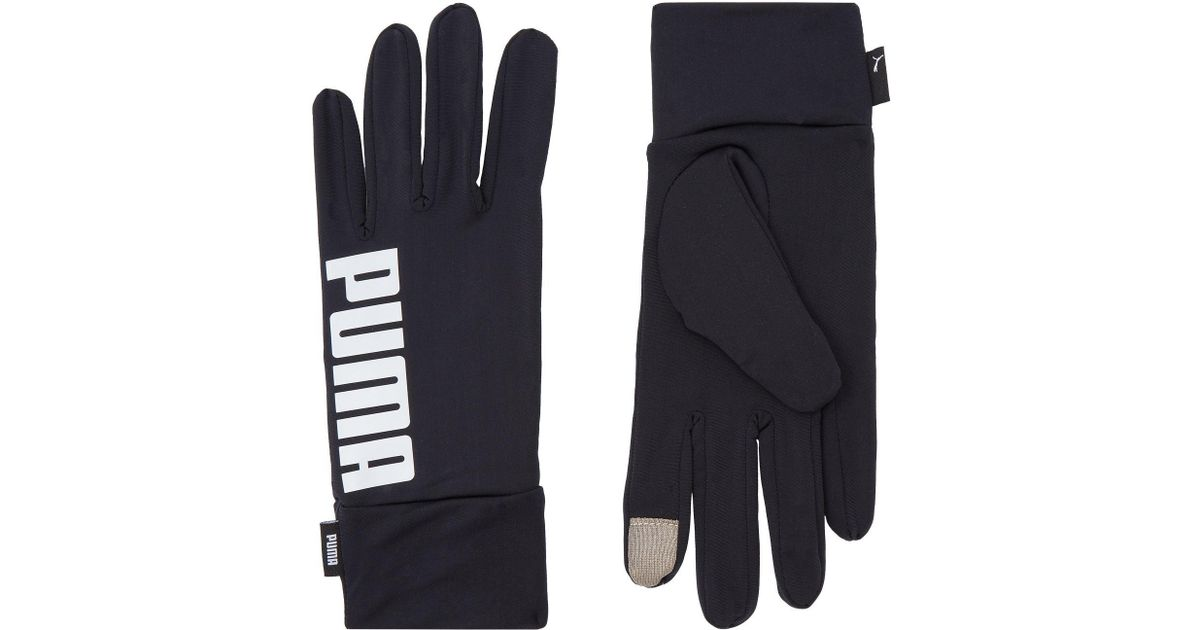 50a639e6d2ea Lyst - PUMA Performance Running Gloves in Black for Men